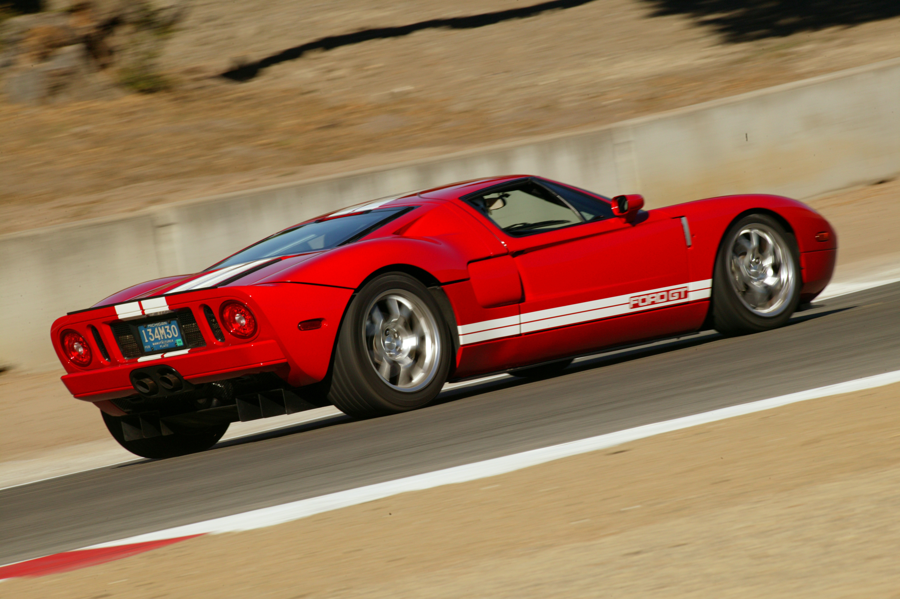 2005 Ford GT Rear Red GT4
