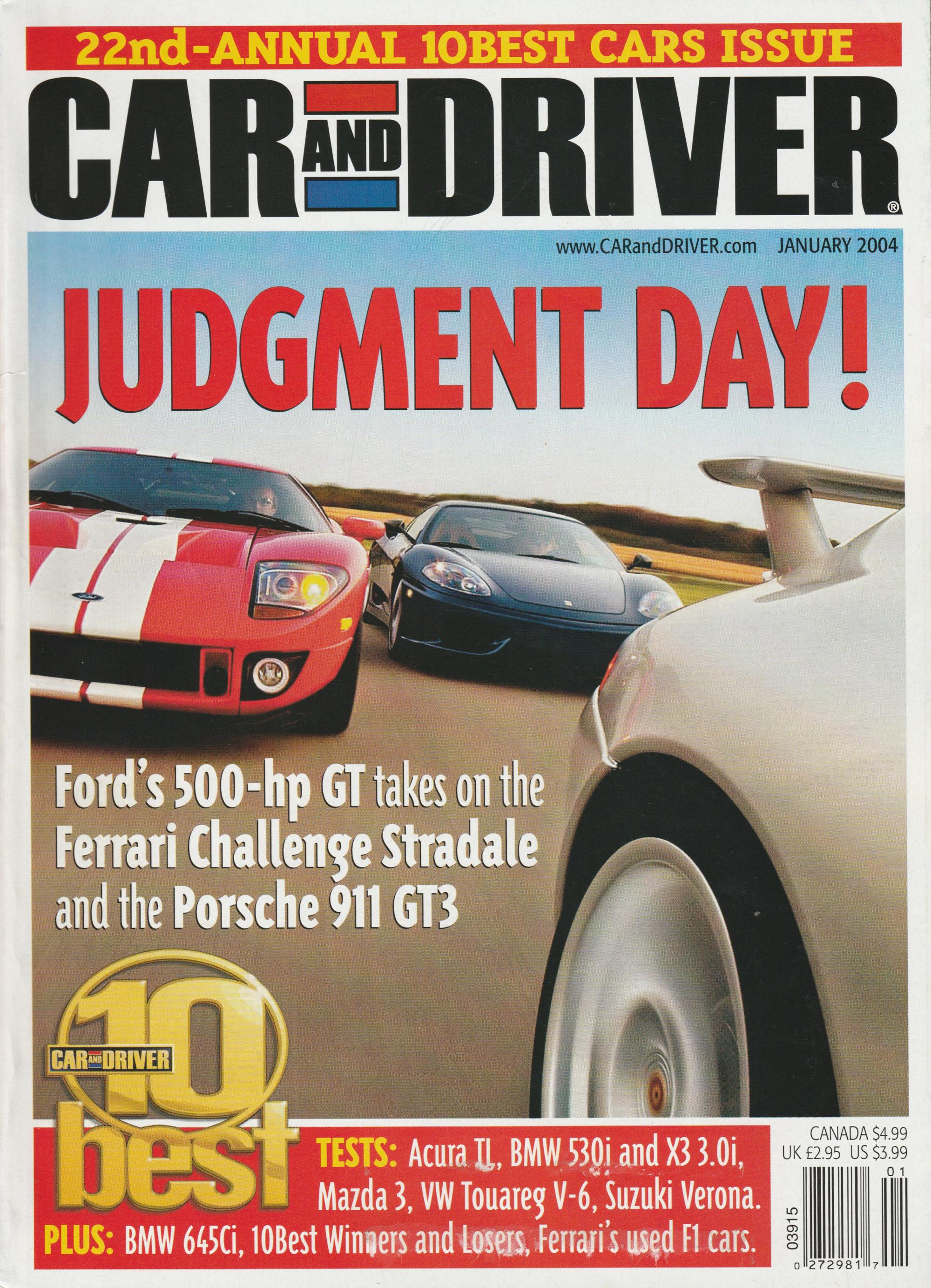 Car Driver Ford GT versus Ferrari 360