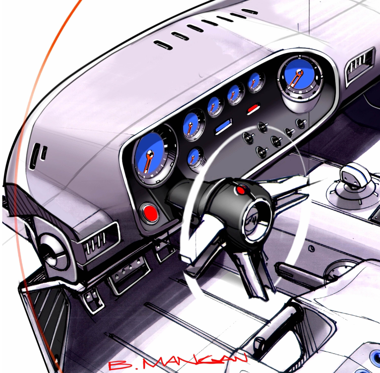 Ford GT40 Concept Design Sketch Gauges