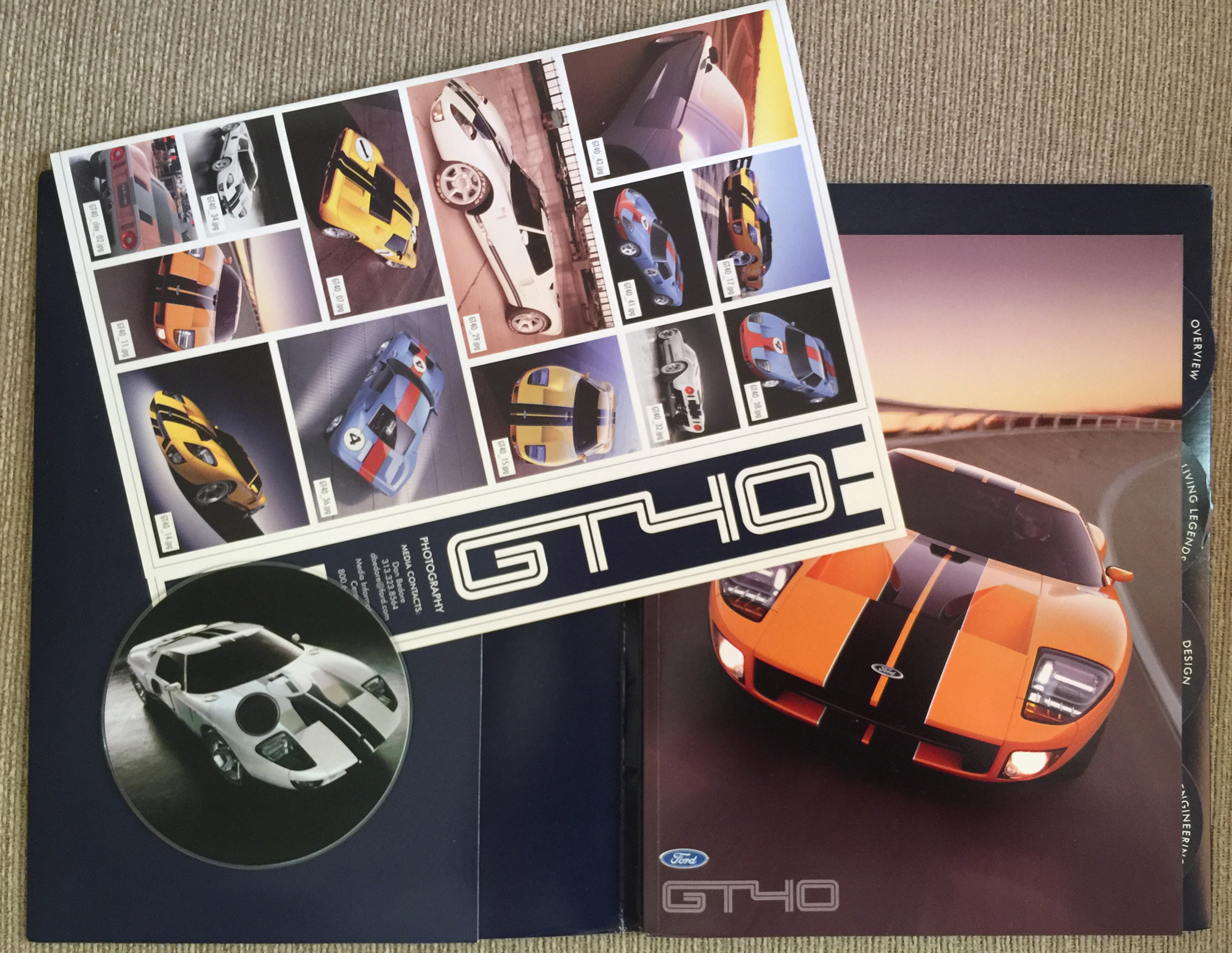 Ford GT40 press kit