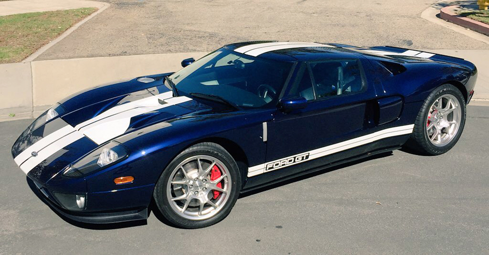2005 Ford GT Long Term Front Dark Blue