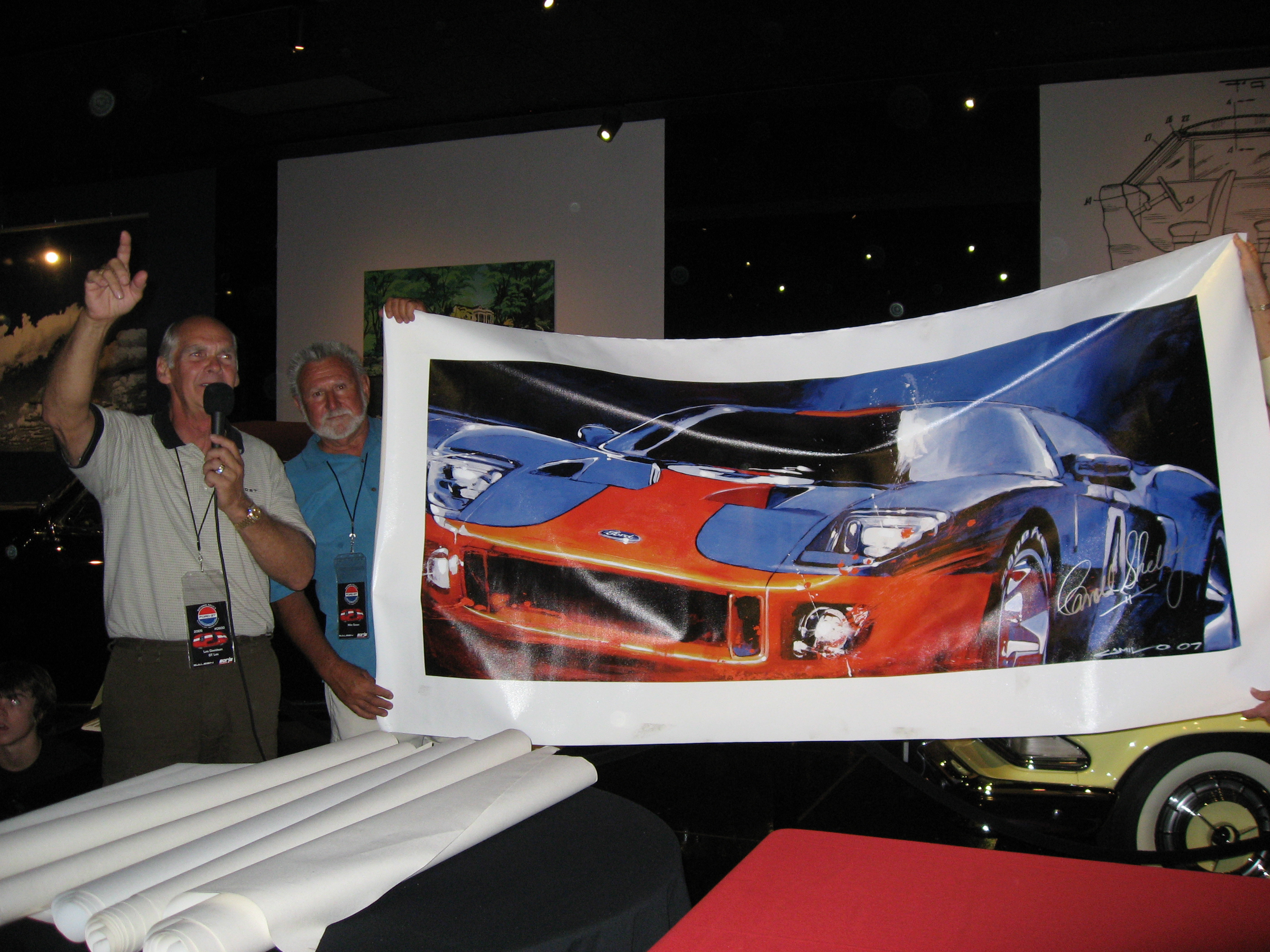 2005 Ford GT Long Term Owners Rally Camilo Pardo Art