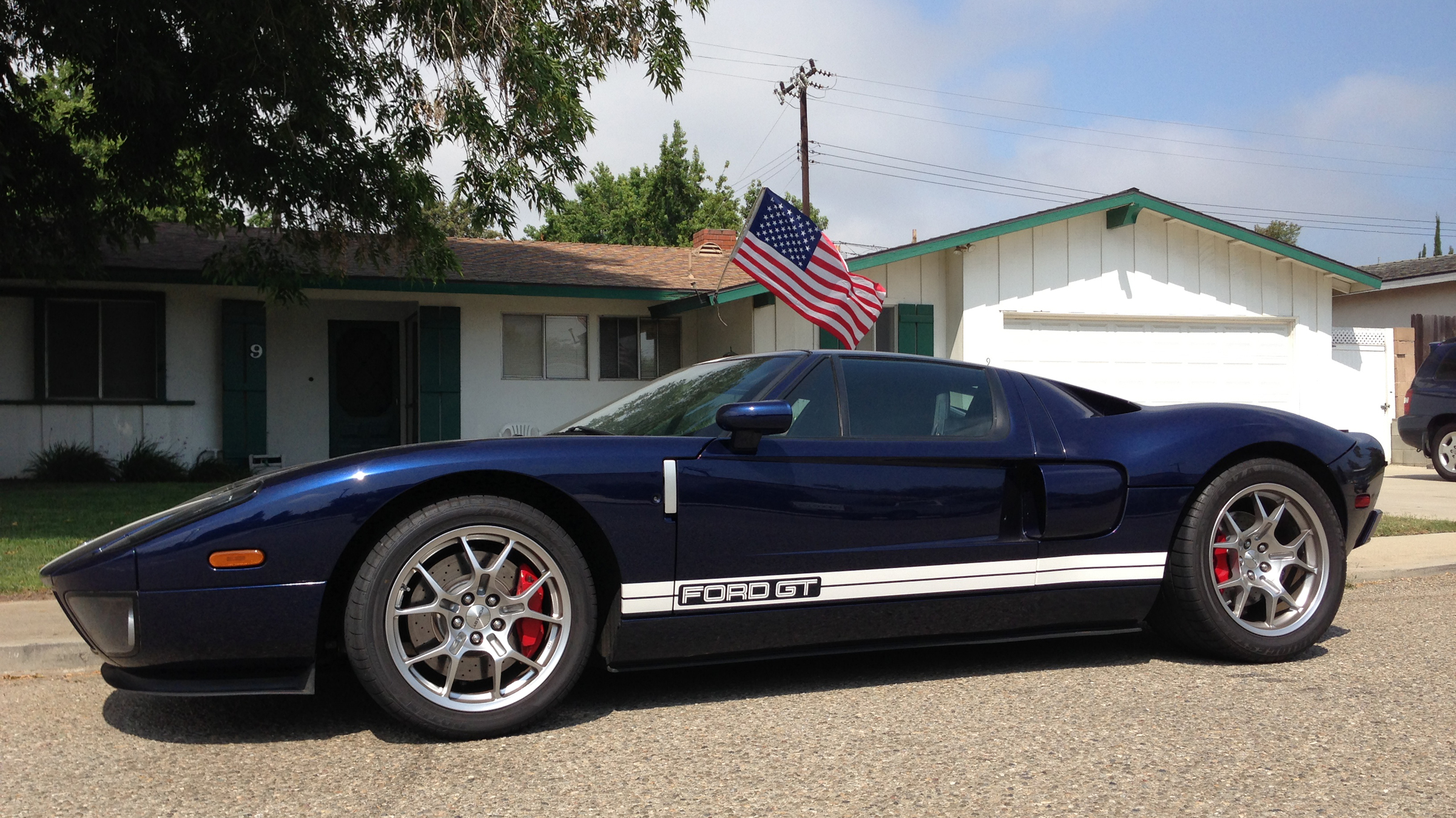 2005 Ford GT American Flag