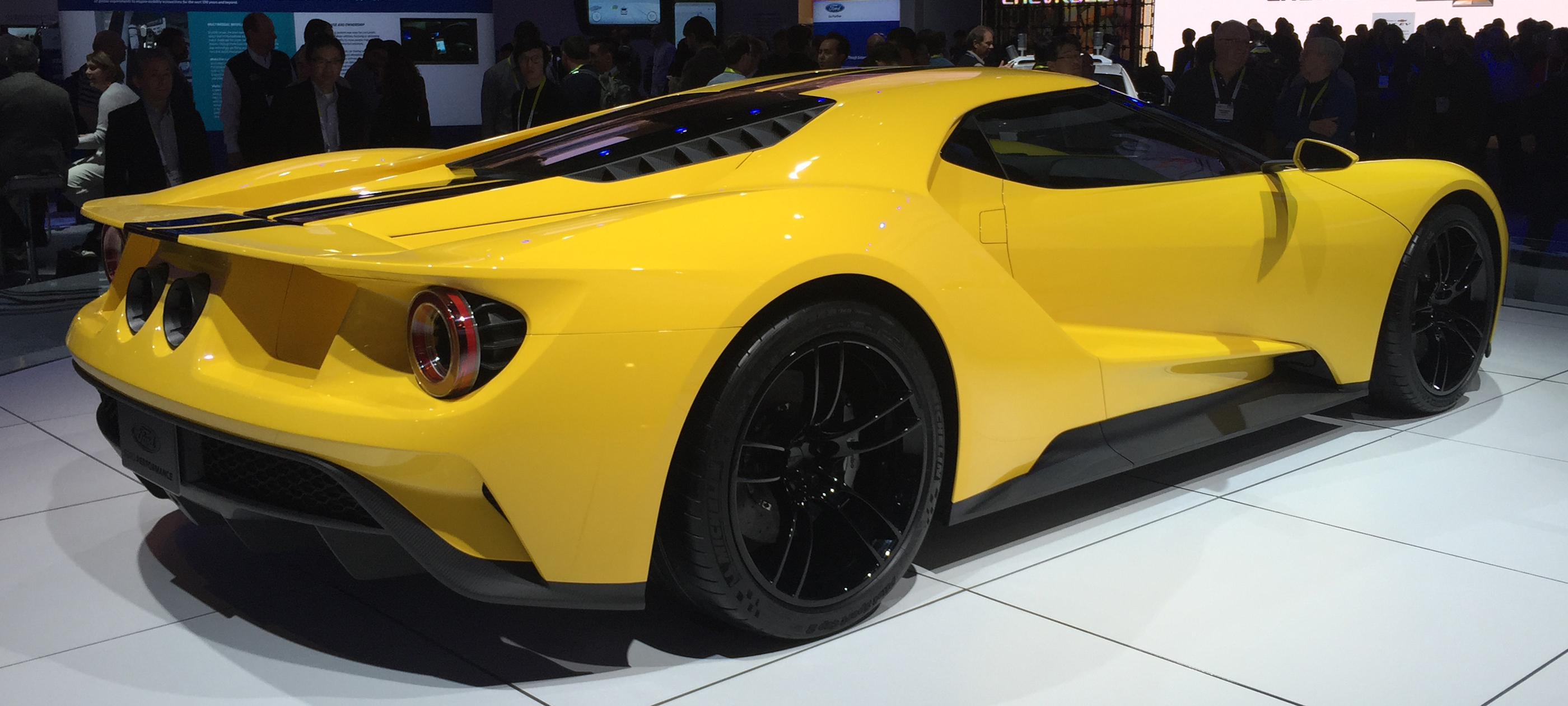 2017 Ford GT Yellow CES Rear