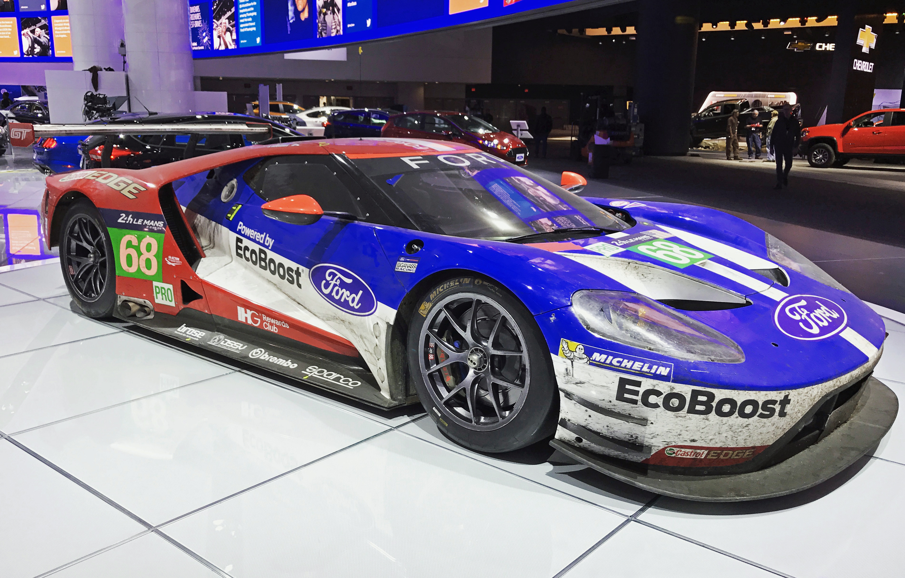 Ford GT Le Mans Winner Detroit Auto Show Race Car