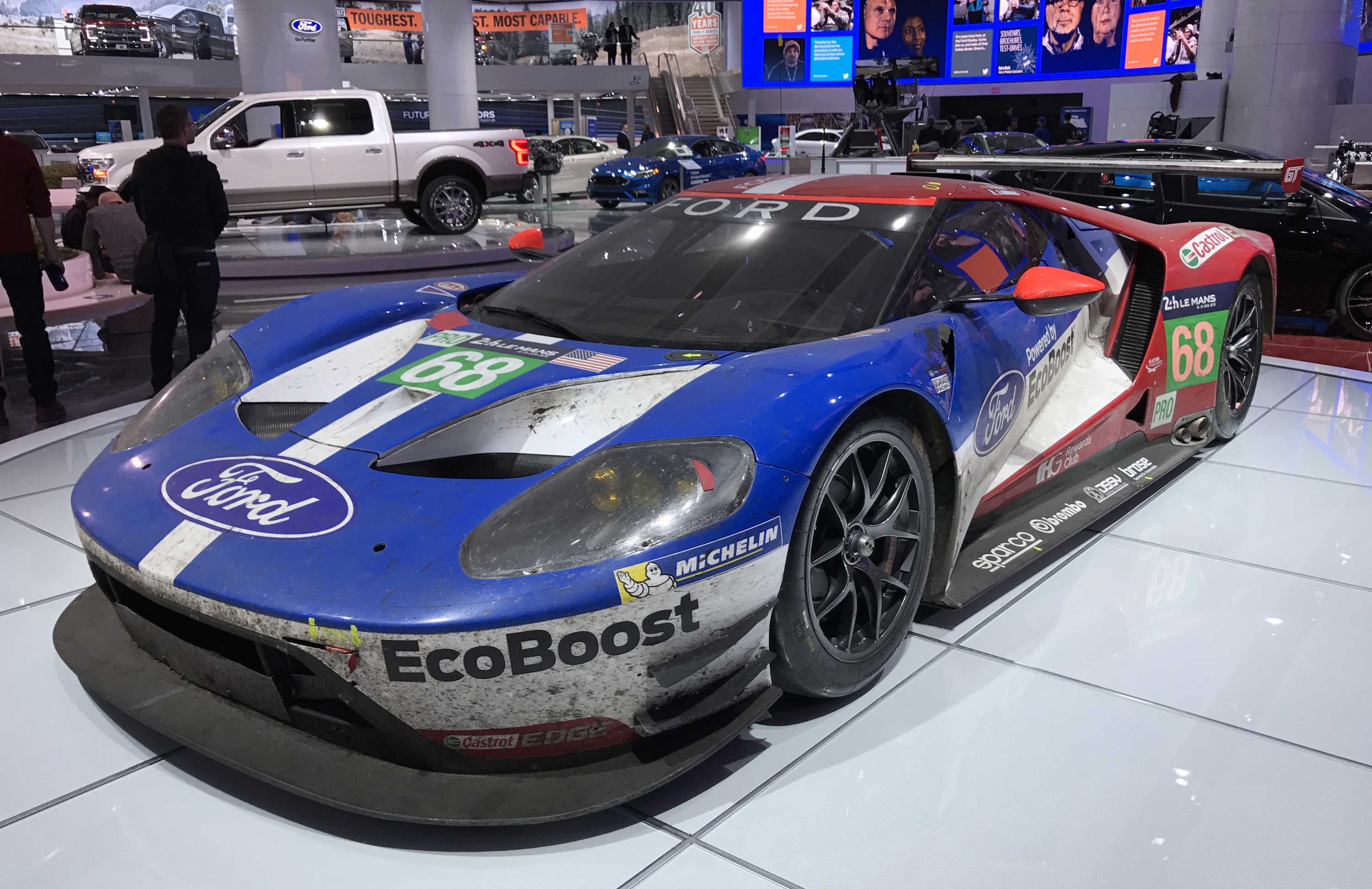 Ford GT Le Mans Winner Detroit Show Race Car Front