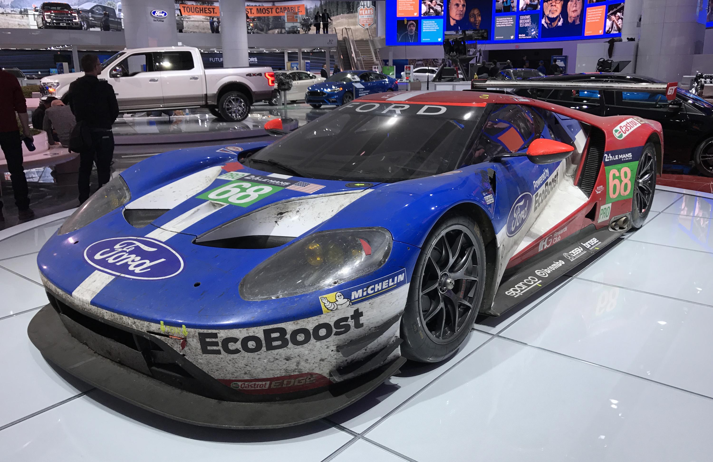 Ford GT Le Mans Winner Detroit Show Race Car Front