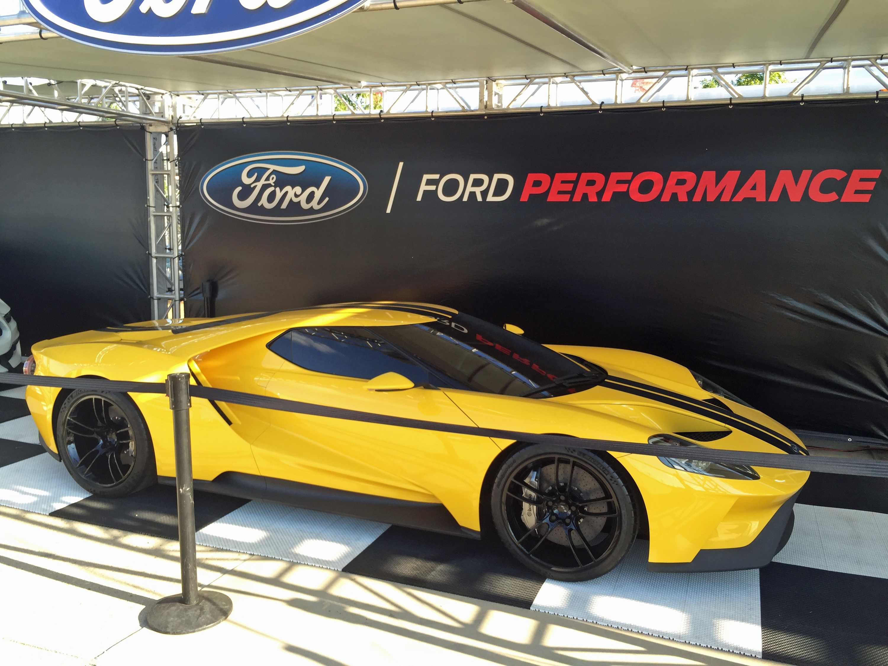 Ford GT Owners Rally 11 Yellow New Ford GT
