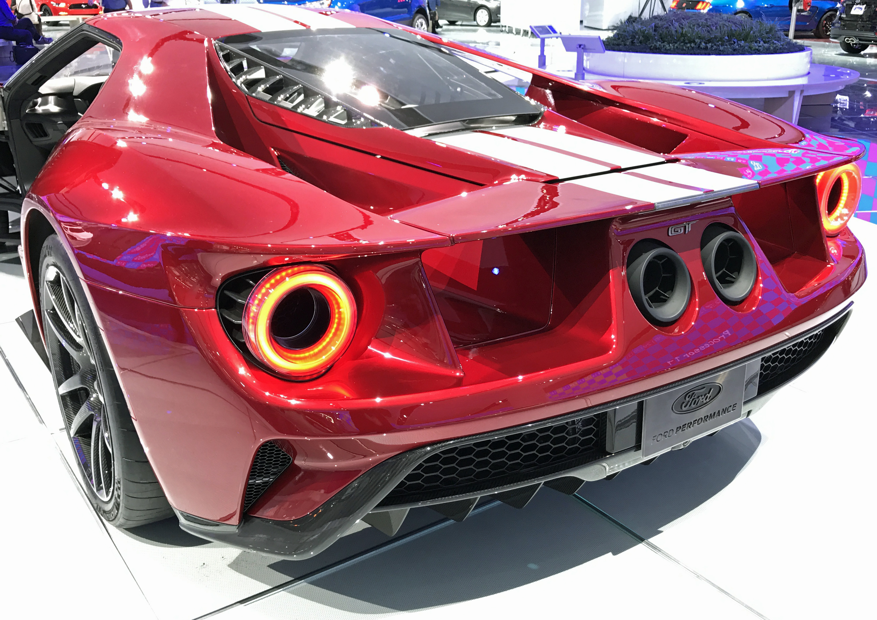 New Ford GT Detroit Show Liquid Red Rear