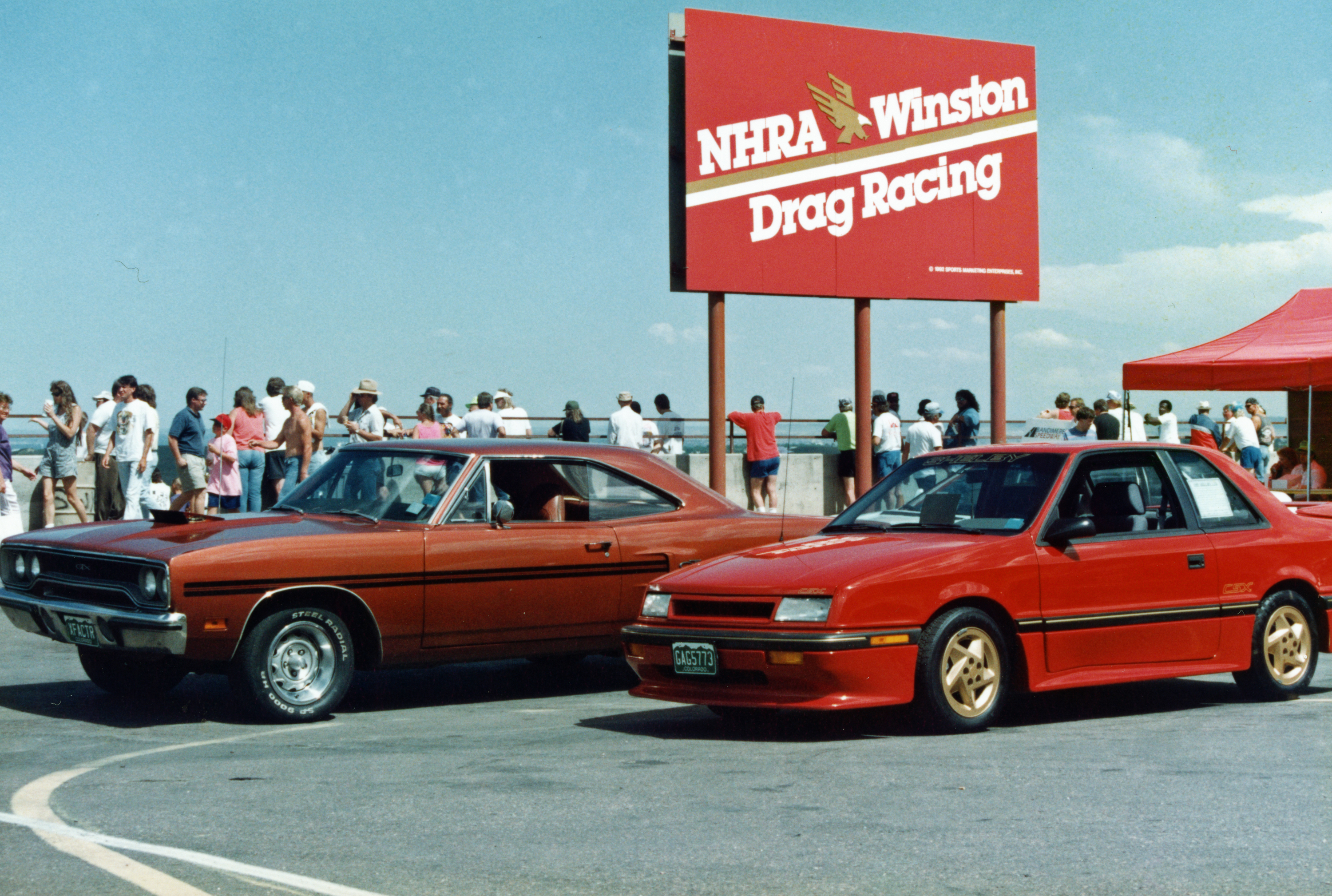 1989 Shelby CSX Bandimere Speedway Plymouth GTX