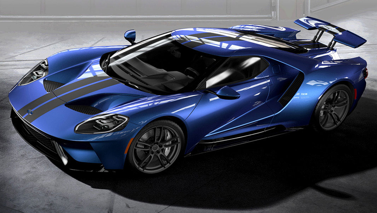 2017 Ford GT Liquid Blue Gray