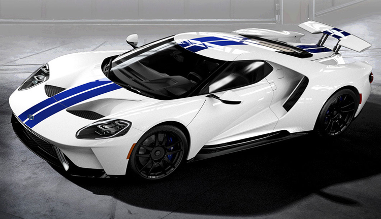 2017 Ford GT White Blue