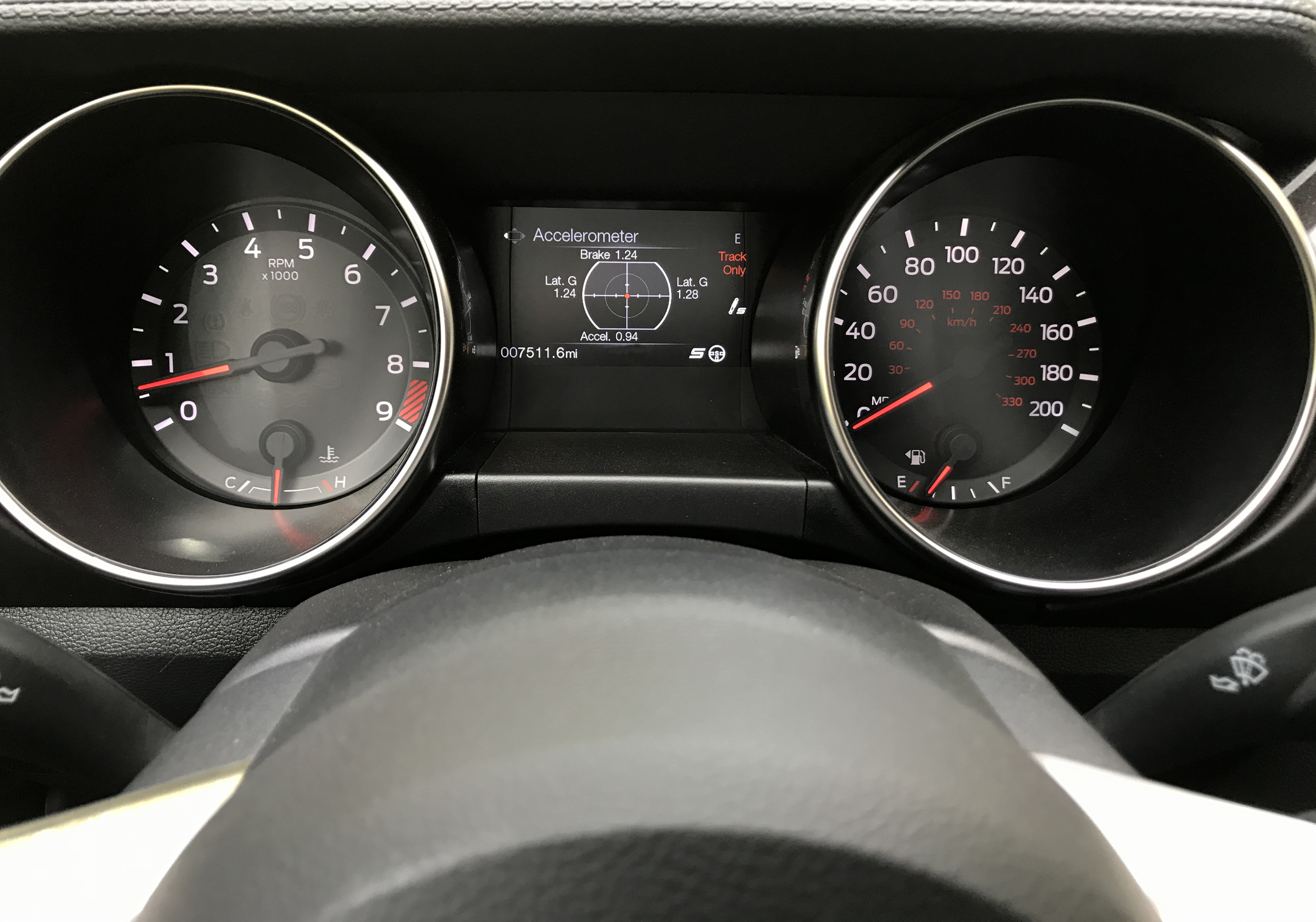 2017 Ford Mustang Shelby GT350R Gauges