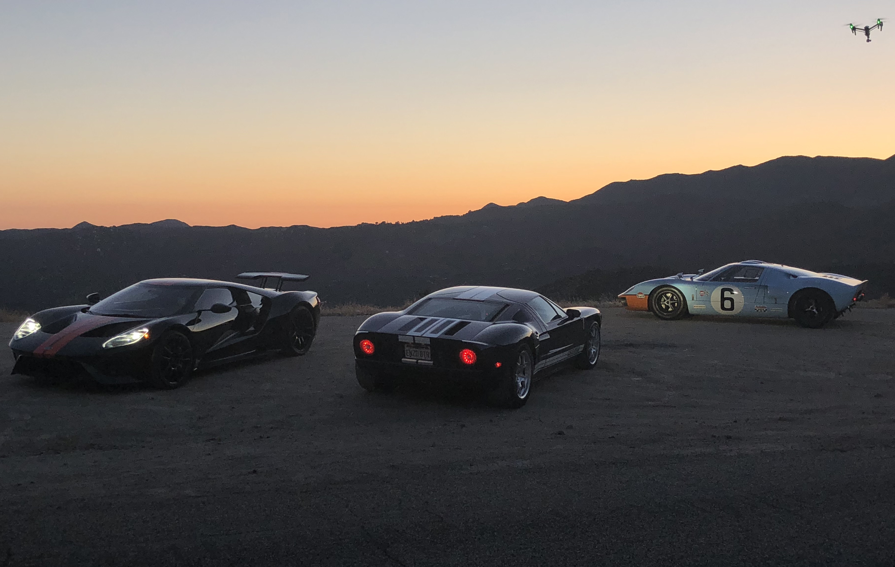Ford GT Generations Drone Comparison Shoot