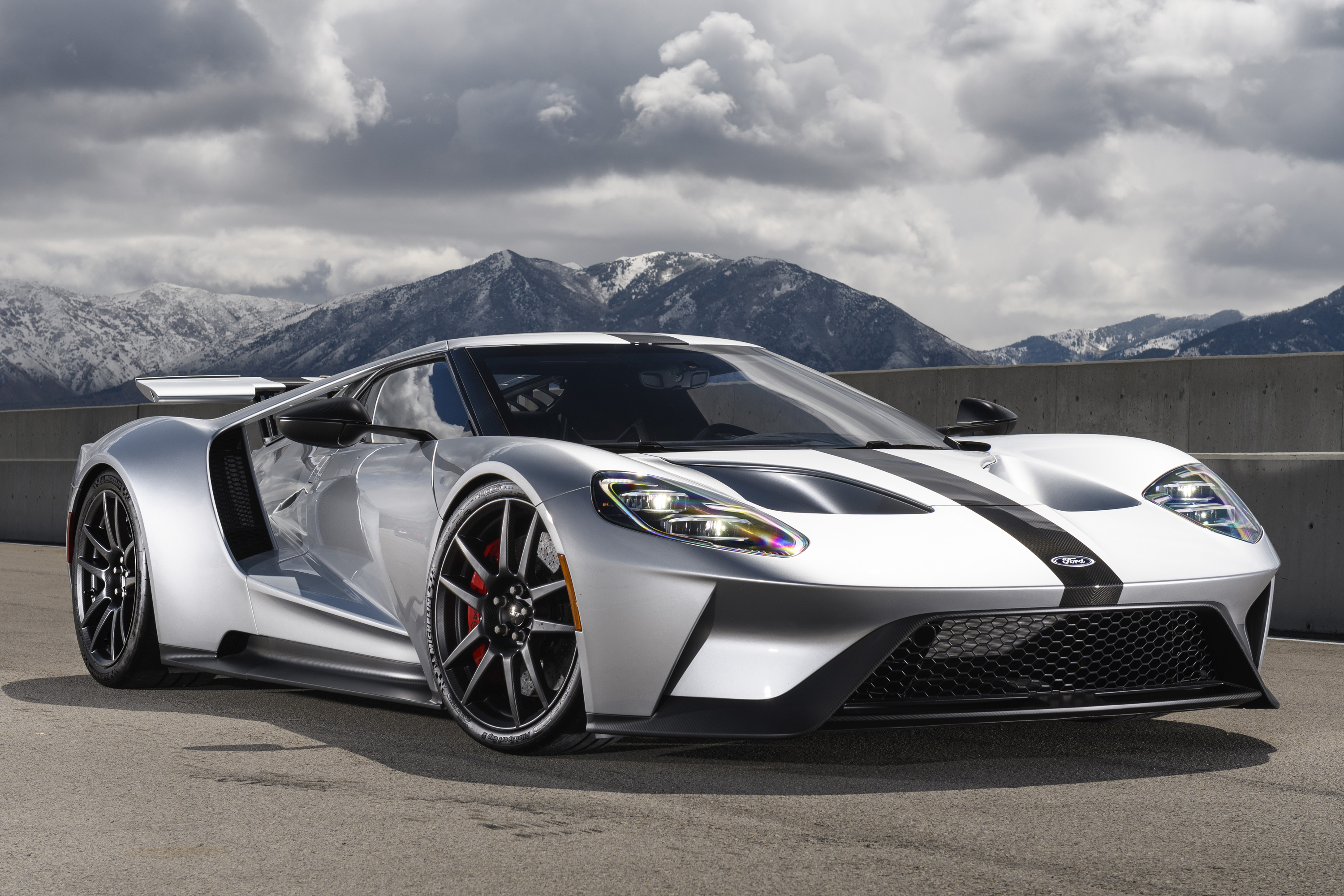New Ford GT Competition Series Front Silver
