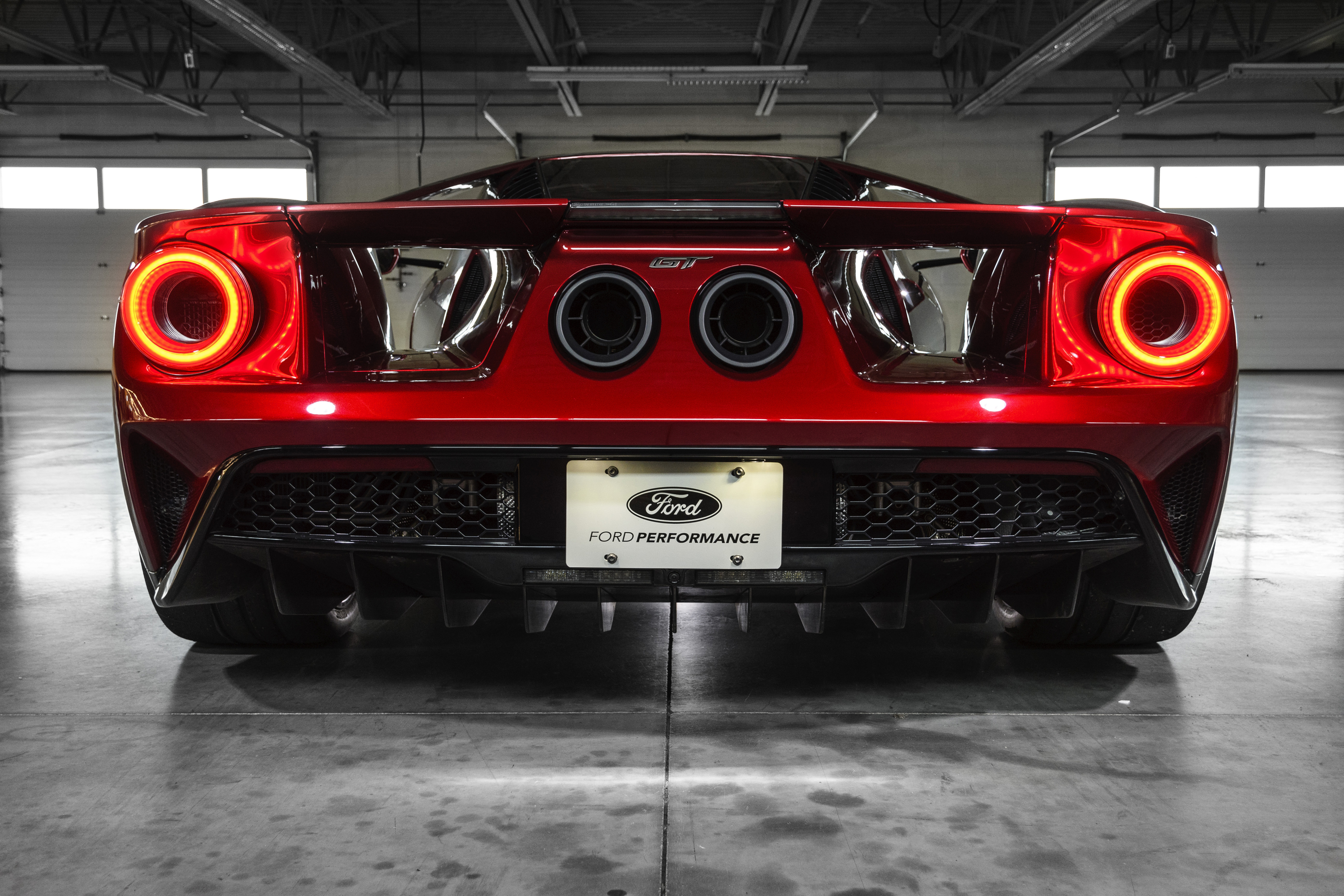New Ford GT Liquid Red Rear End