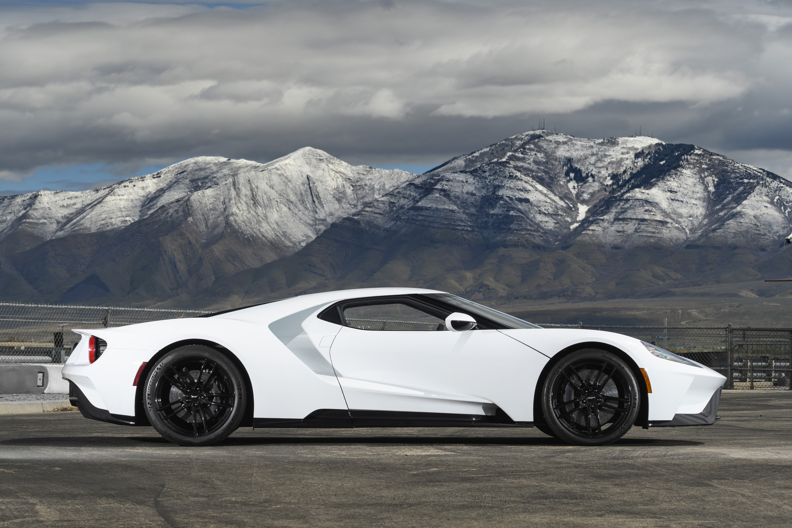 New Ford GT White Utah Mountains