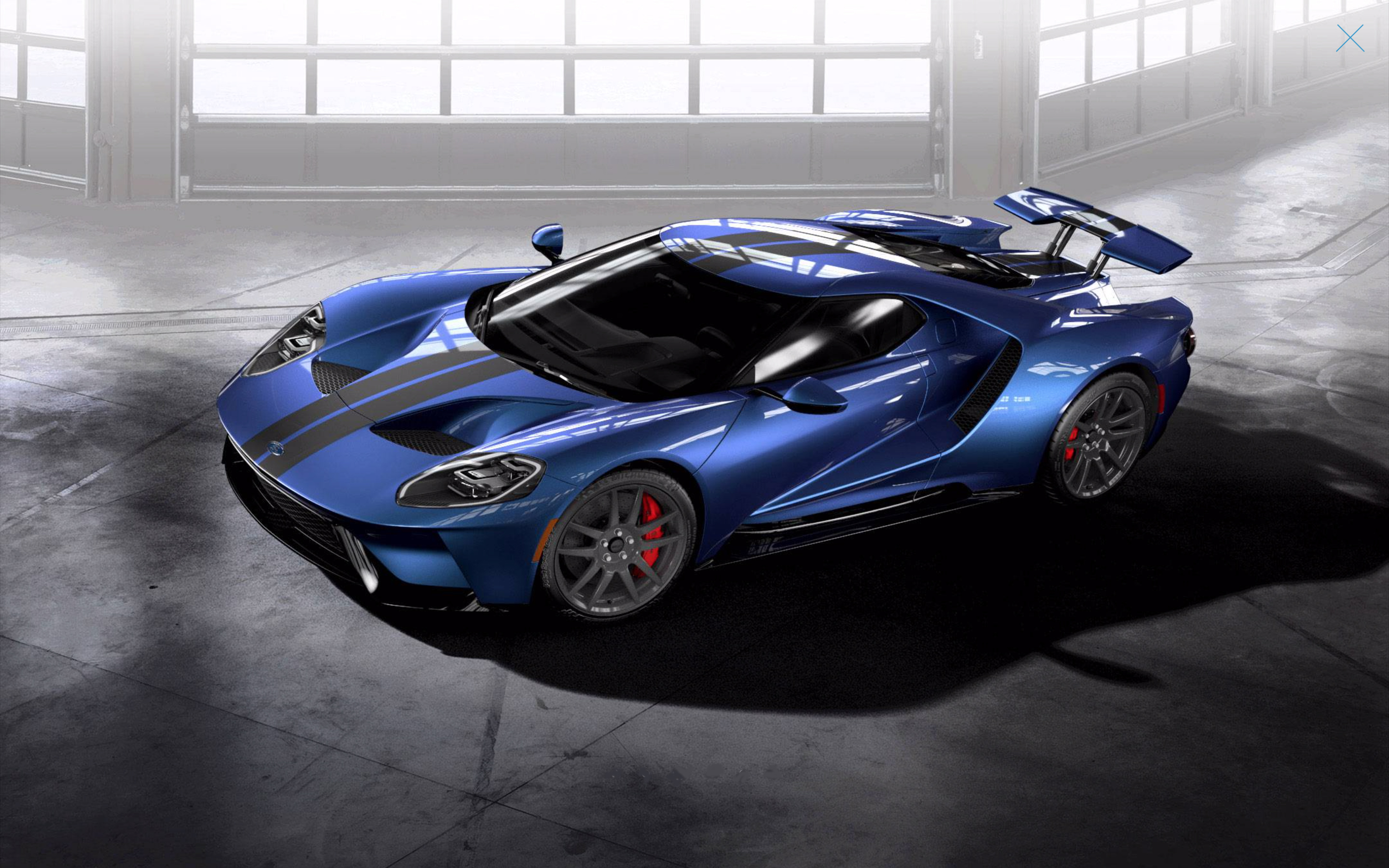 2019 Ford GT Liquid Blue Stripes