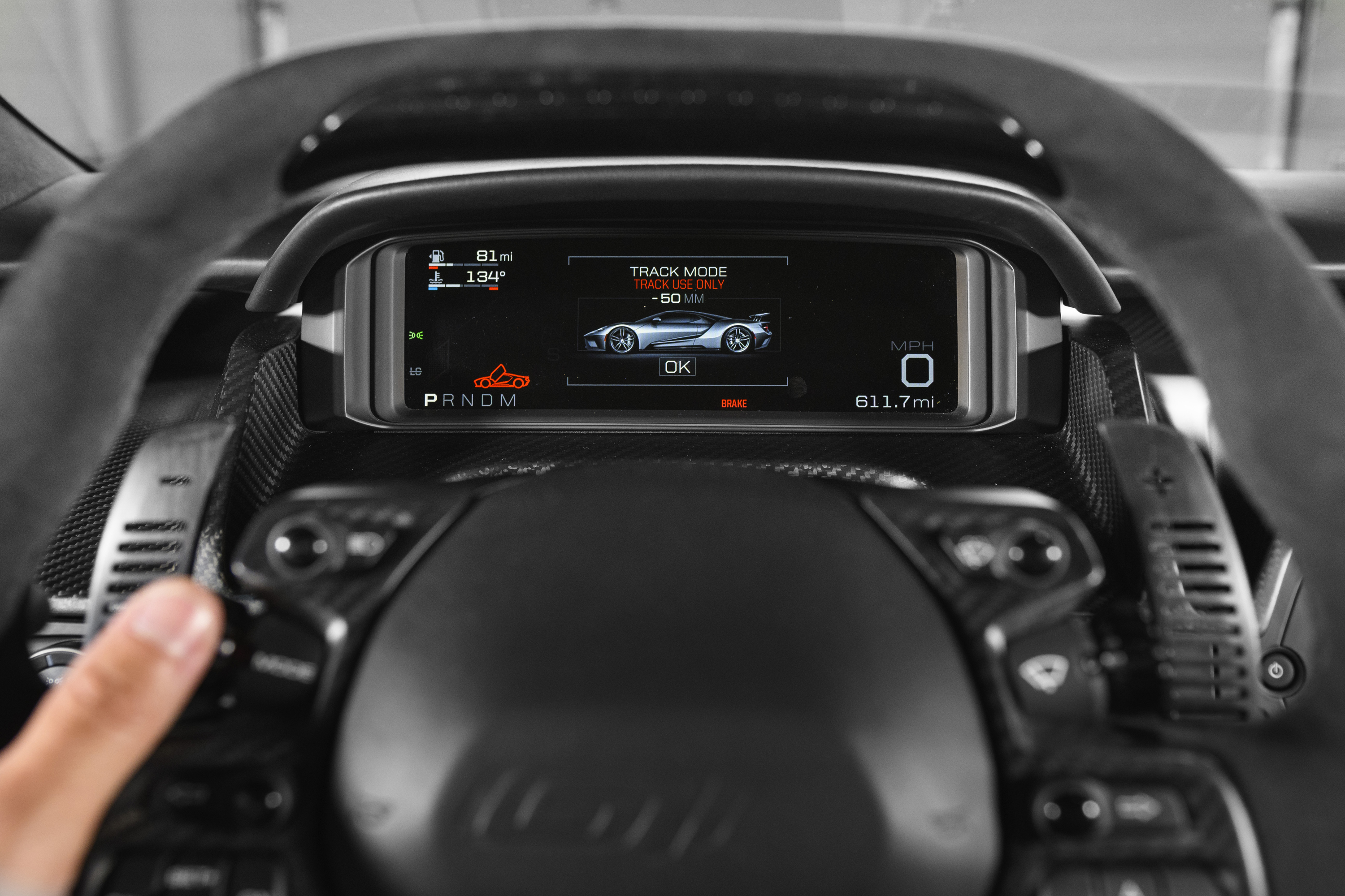 New Ford GT Gauge Cluster Track Mode