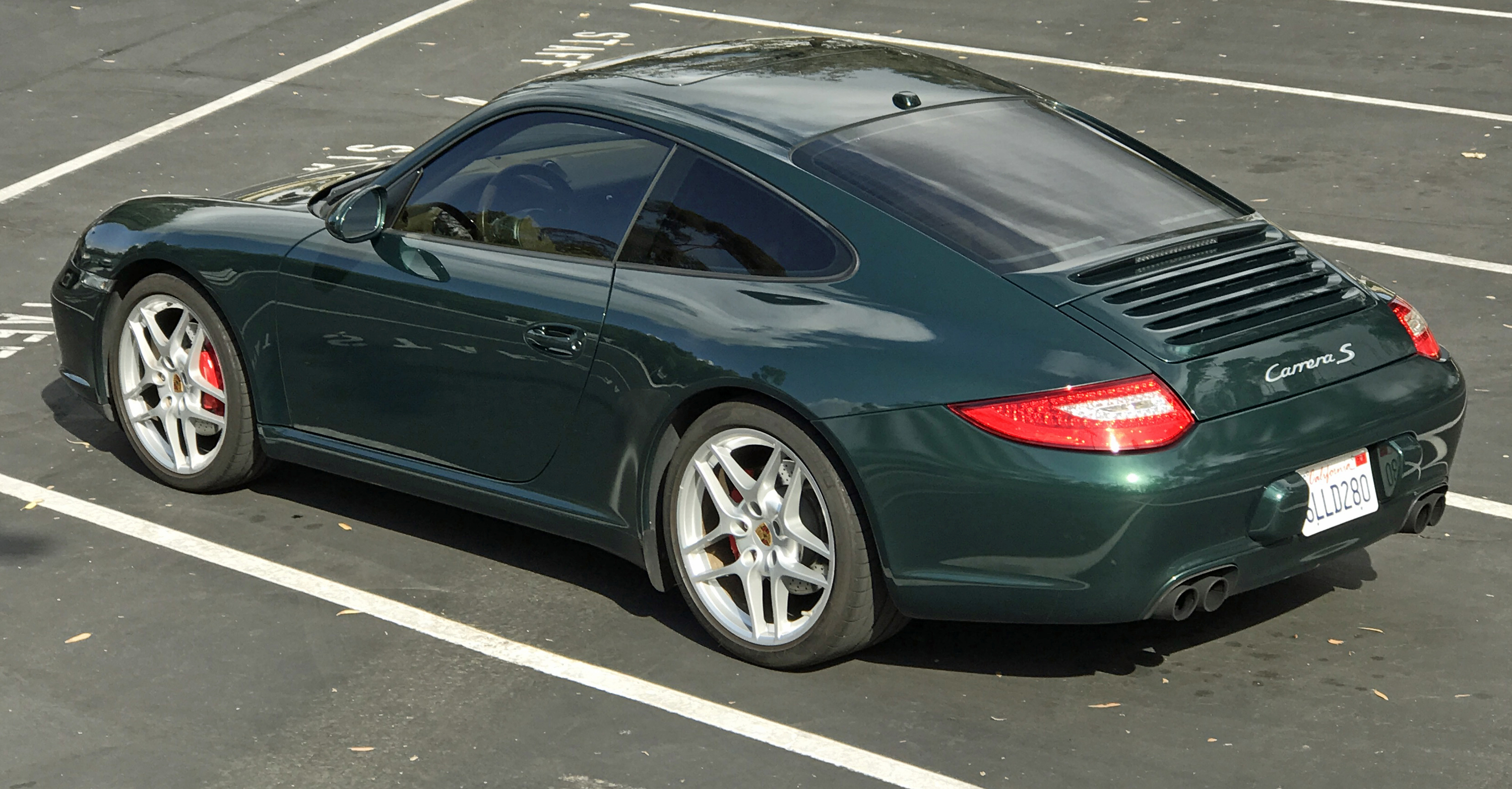 2009 Porsche 911 Carerra S Rear Profile