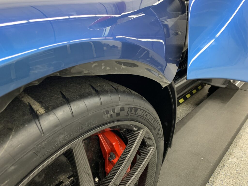 2019 Ford GT Carbon Series Paint Protection Film Wheel Well