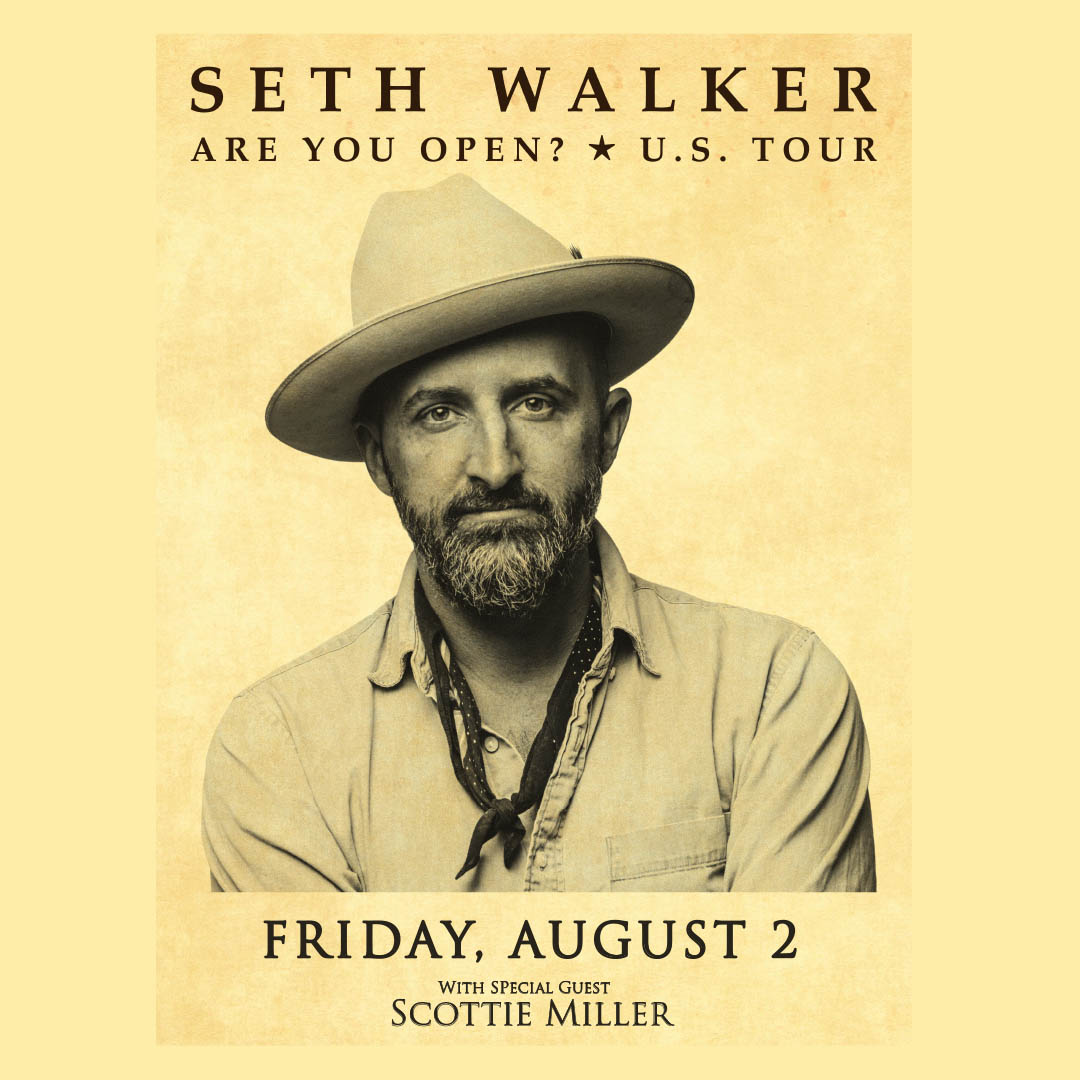 Seth Walker Plus Special Guest Scottie Miller on Friday, August 2 at The Hook and Ladder Mission Room