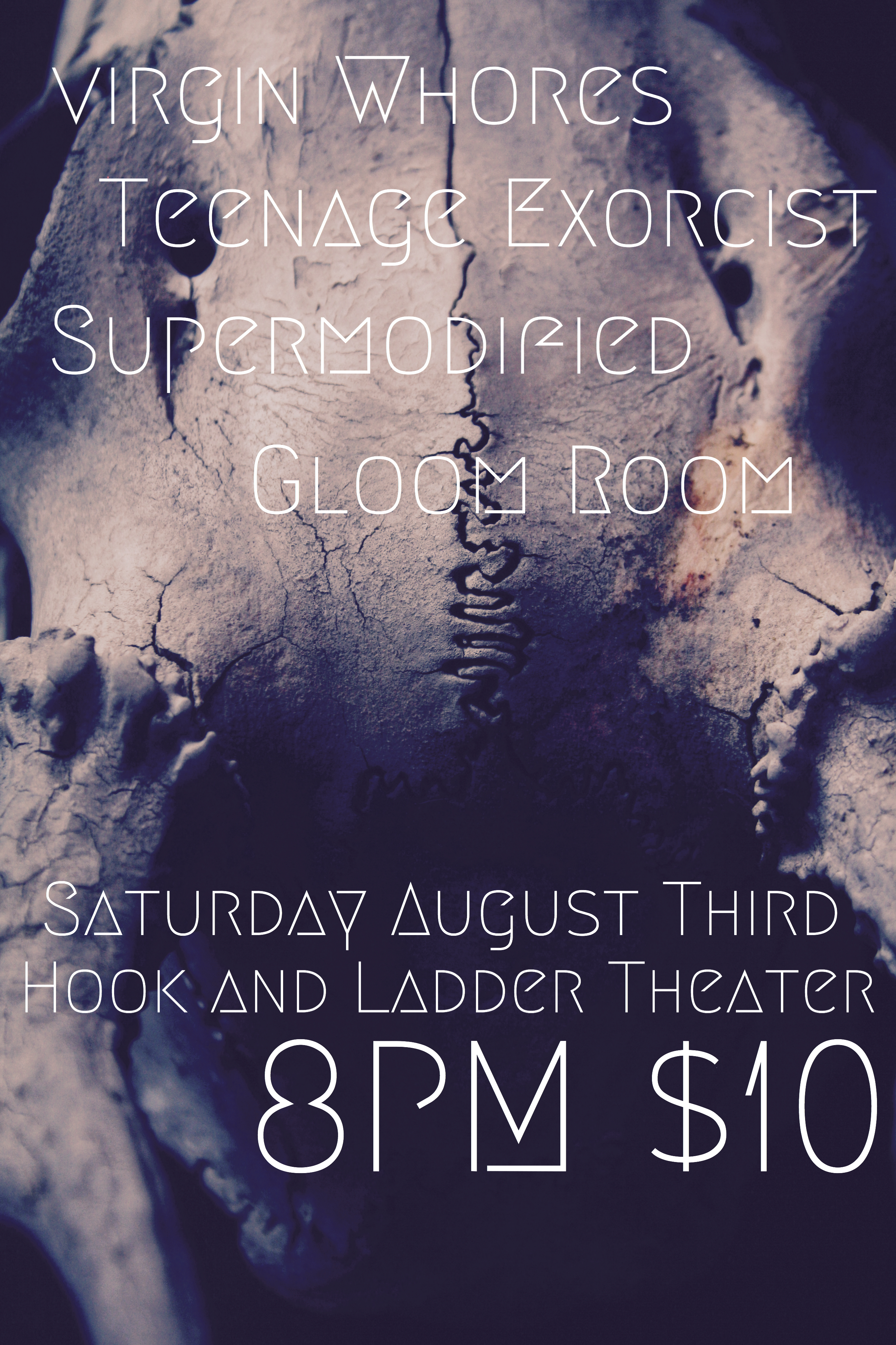 Virgin Whores w/ Teenage Exorcist, Supermodified, and Gloom Room on Saturday, August 3 at The Hook