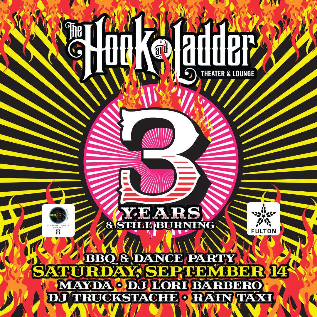 Hook 3rd Anniversary on Saturday, September 14 at The Hook and Ladder Mission Room