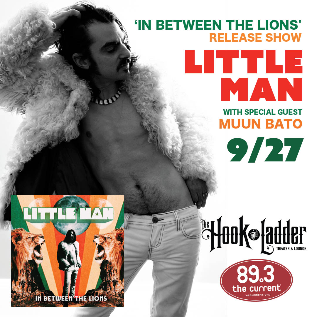 Little Man with Muun Bato on Friday, September 27 at The Hook and Ladder Theater