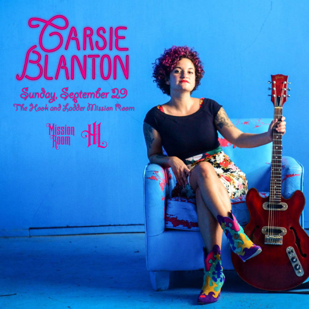 Carsie Blanton on Sunday, September 29 at The Hook and Ladder Mission Room
