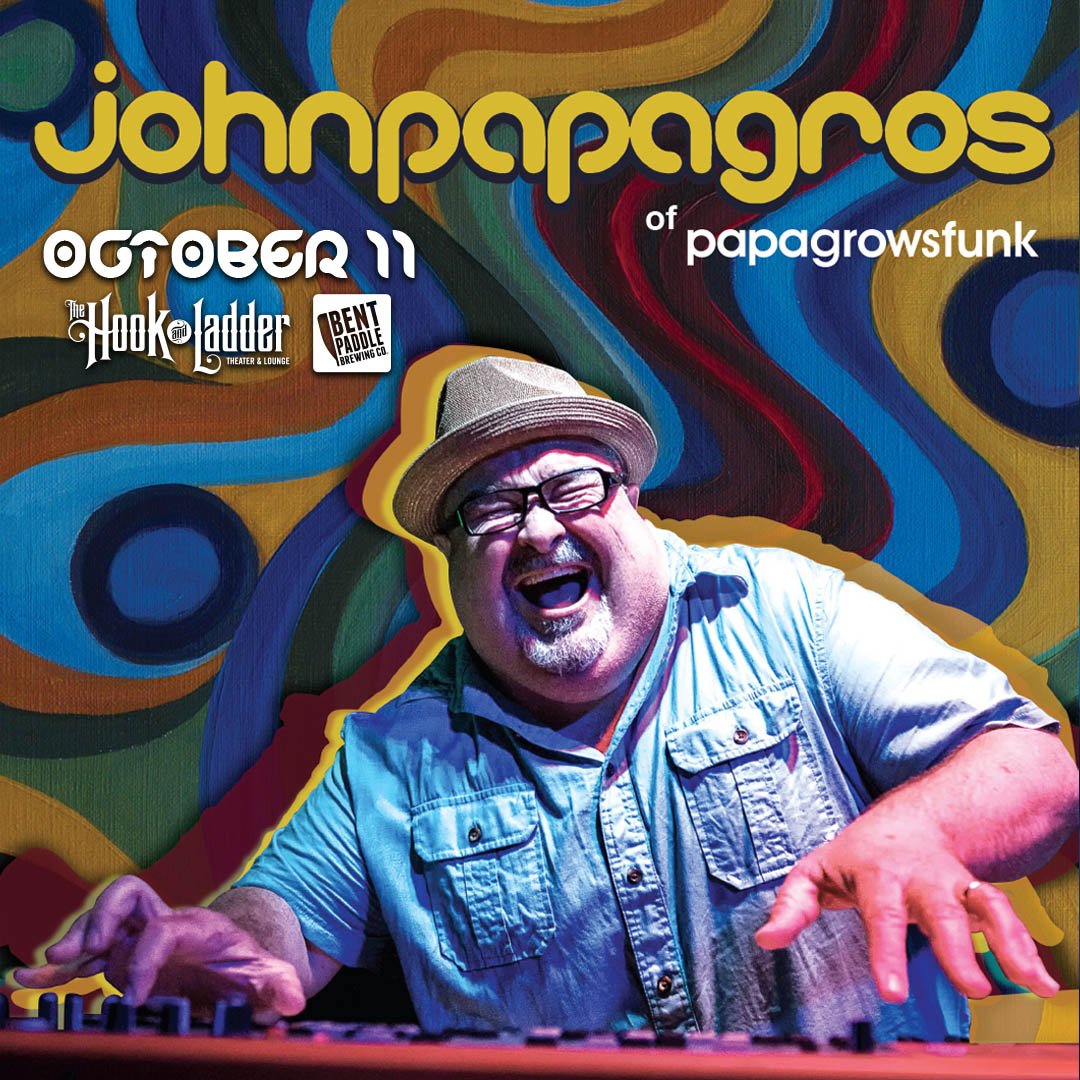 """John """"Papa"""" Gros on Friday, October 11 at The Hook and Ladder Theater"""