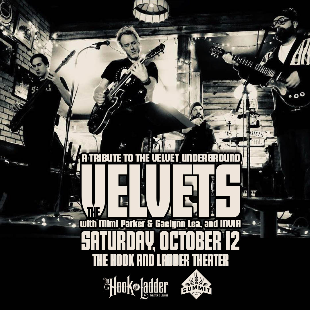 The Velvets with Mimi Parker & Gaelynn Lea, and INVIA on Saturday, October 12 at the Hook!