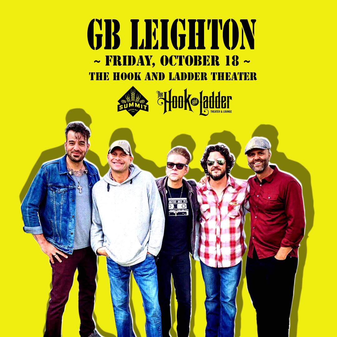 GB Leighton on Friday, October 18 at The Hook and Ladder Theater