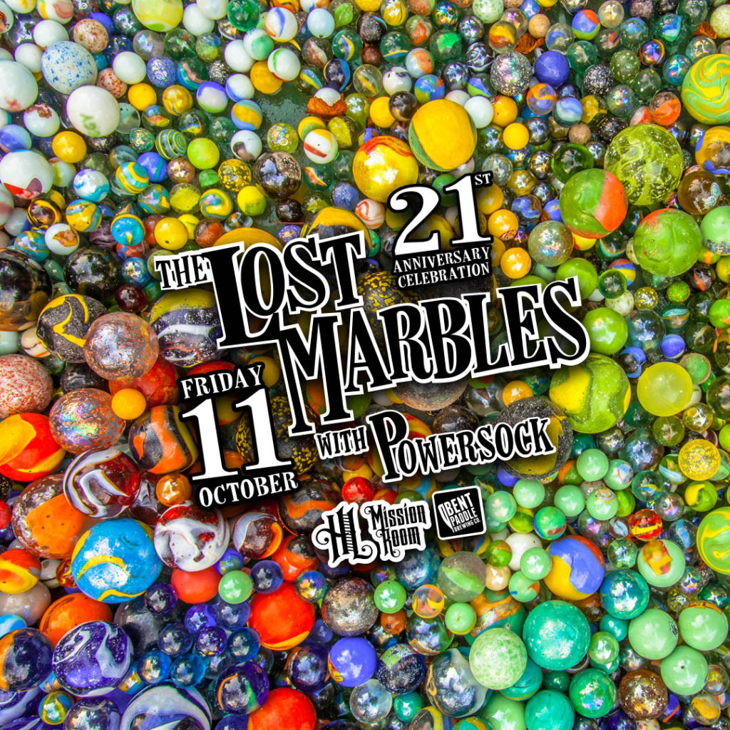 The Lost Marbles and Powersock on Friday, October, 11 at The Hook and Ladder Mission Room