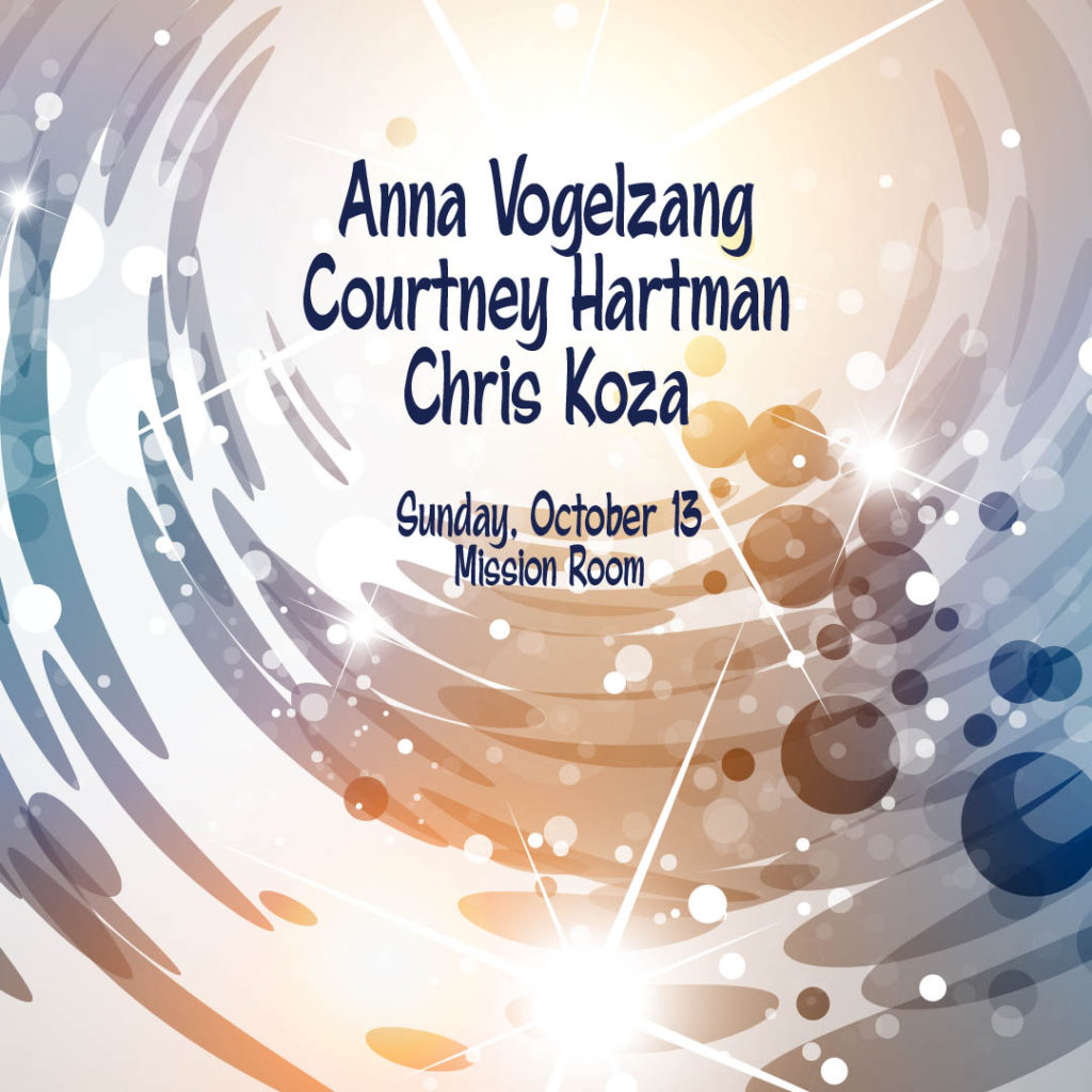 Anna Vogelzang, Courtney Hartman, and Chris Koza on Sunday, October 13 at The Hook and Ladder Mission Room