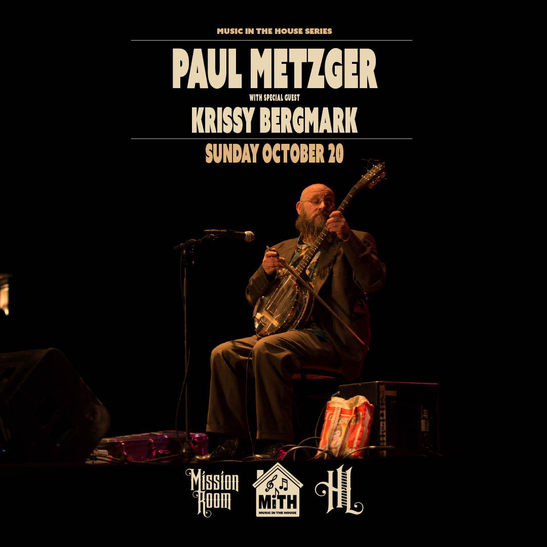 Paul Metzger with special guestKrissy Bergmark on Sunday, October 20 at tHe Hook and Ladder