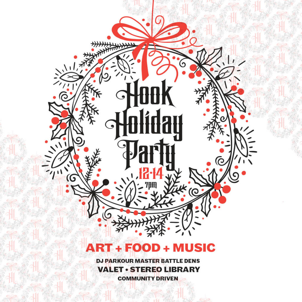 Hook Holiday Party on Saturday, December 14