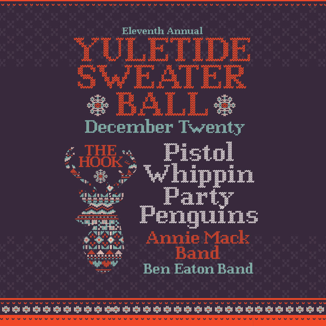 """Pistol Whippin' Party Penguins """"Yuletide Sweater Ball"""" on Friday, December 20, 2019 at The Hook and Ladder Theater"""