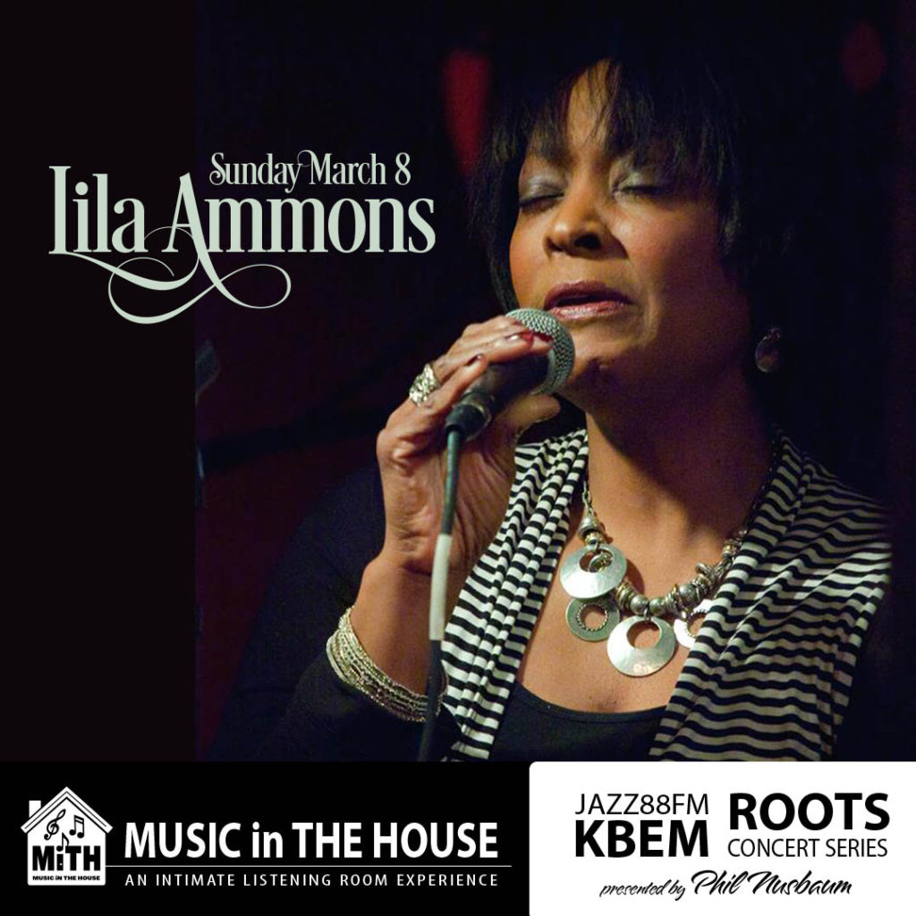 KBEM Roots Concert Series - Lila Ammons - Sunday, March 8 - The Hook and Ladder Mission Room