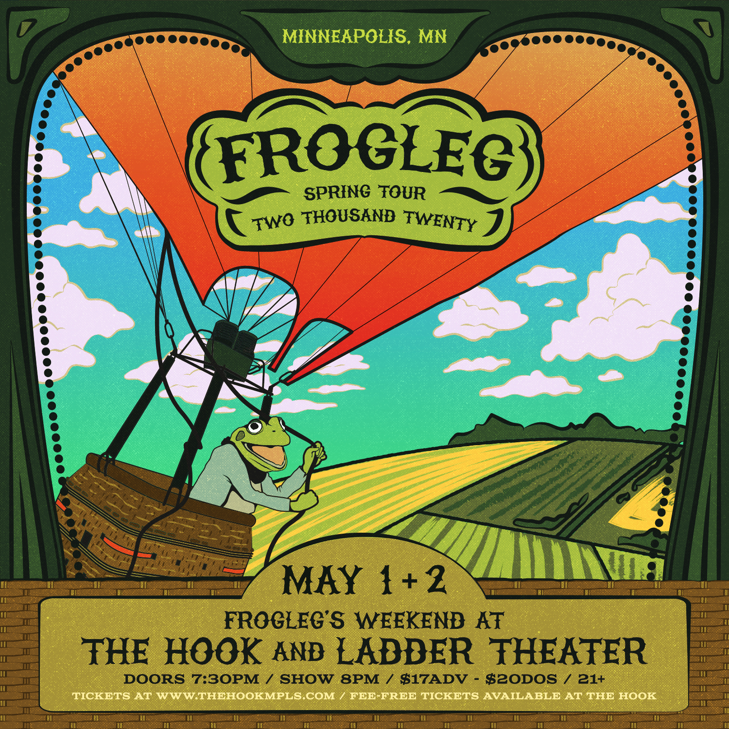 Frogleg's Weekend At The Hook! - Friday, May 1 & Saturday May 2 - The Hook and Ladder Theater