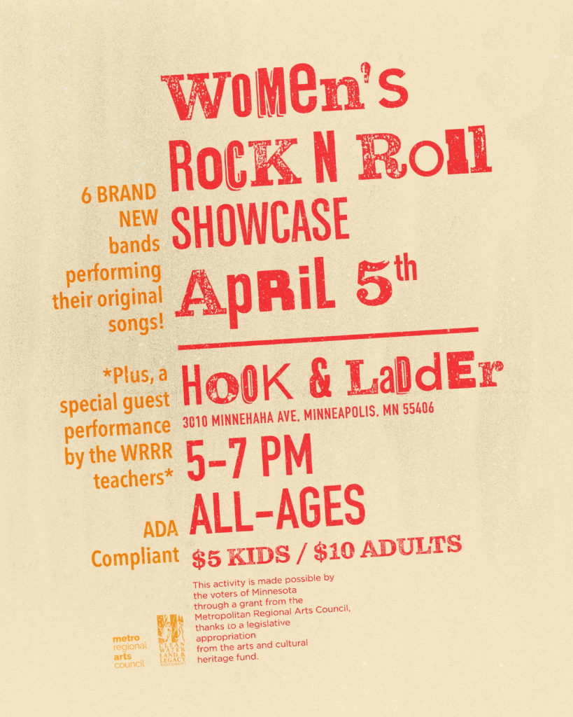 She Rock She Rock Presents Women's Rock n Roll Showcase - Sunday, April 5 at The Hook and Ladder Theater