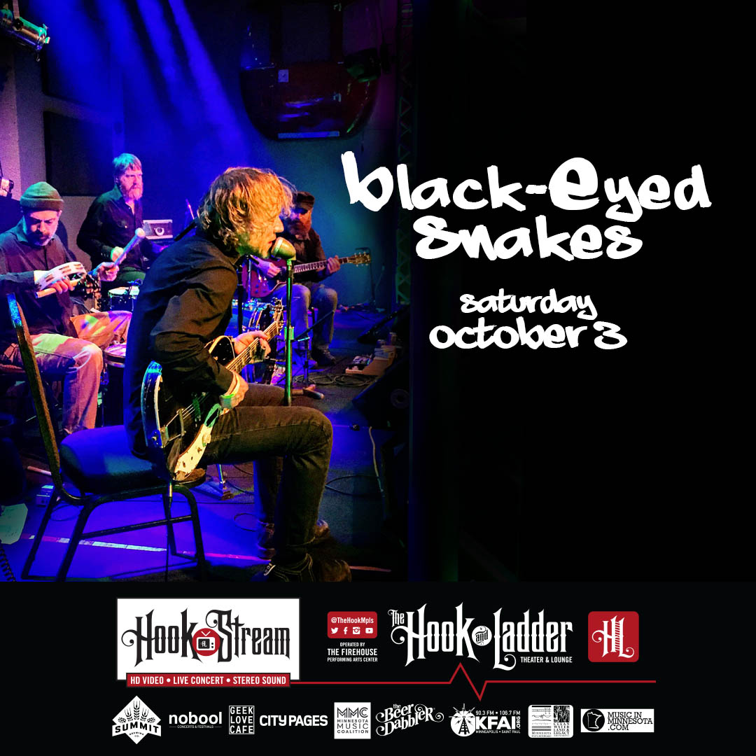 Black-Eyed Snakes - Saturday, October 3 - HookStream