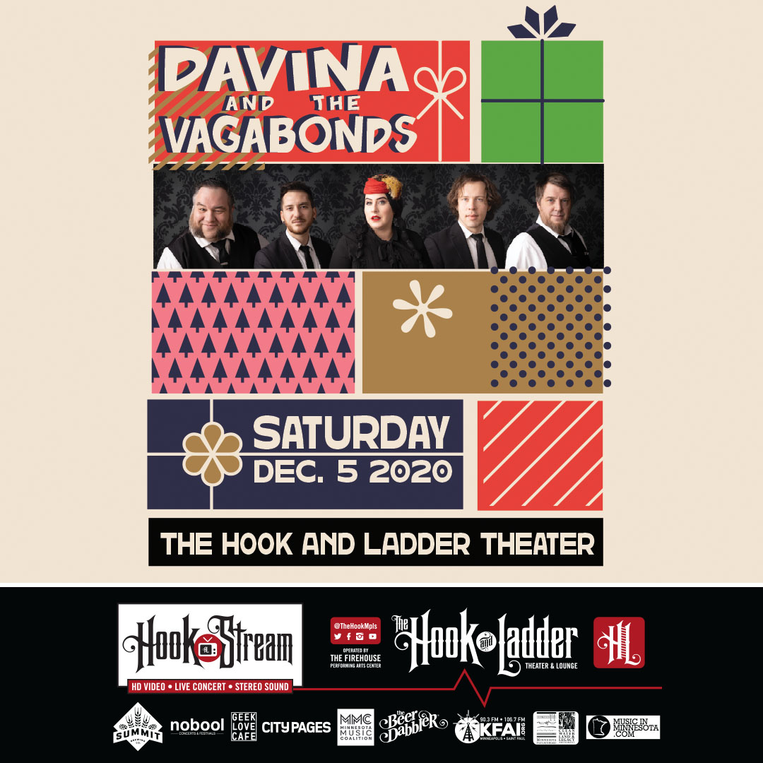Davina & The Vagabonds - Holiday At The Hook - Saturday December 5 - HookStream