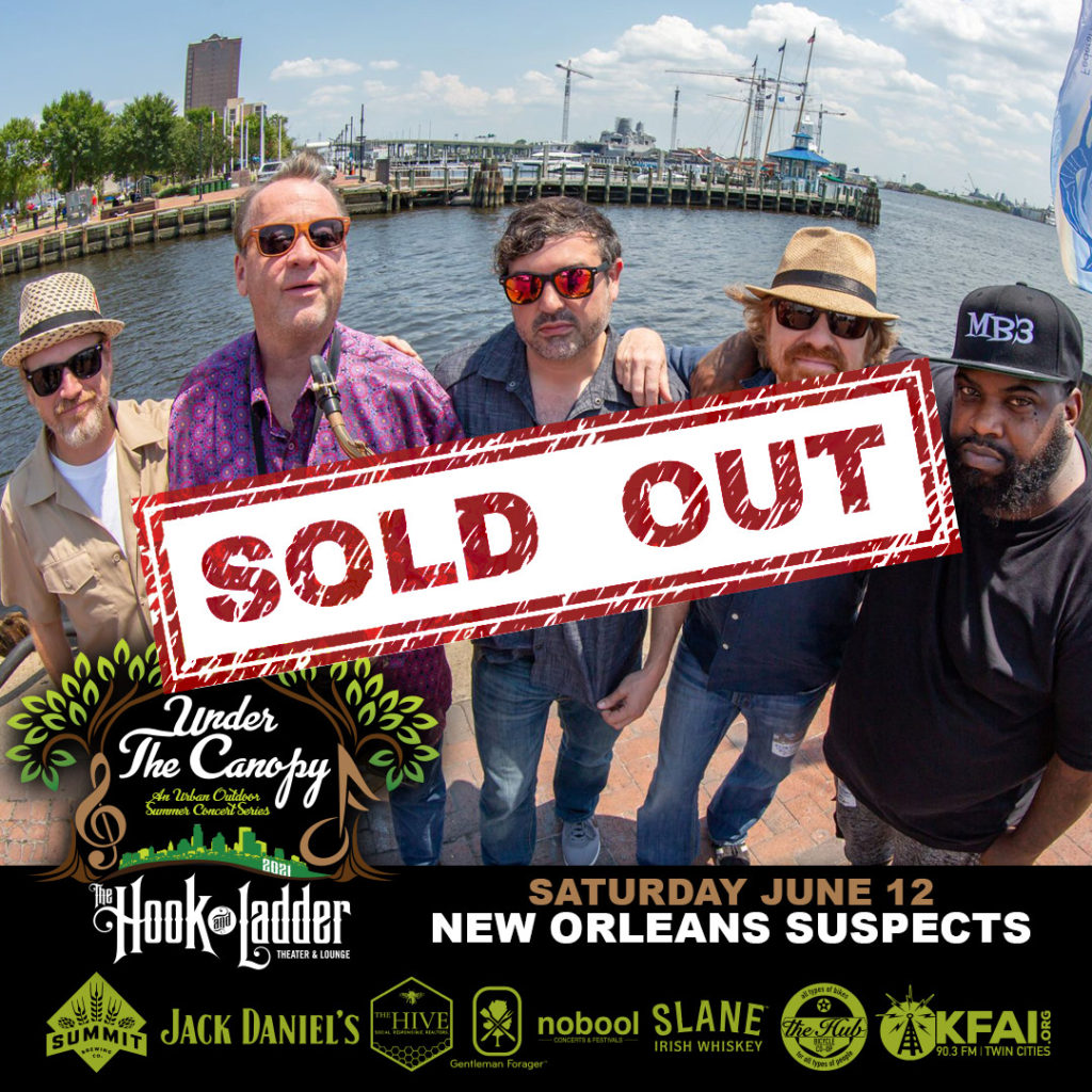 New Orleans Suspects - Under The Canopy at The Hook and Ladder Theater - Saturday June 12 - SOLD OUT