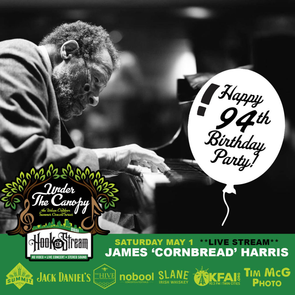 "James Samuel ""Cornbread"" Harris Sr. Cornbread's 94th B-Day Party - #HookStream at The Hook and Ladder Theater - Saturday, May 1"