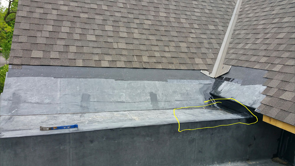Asphalt shingles on new construction