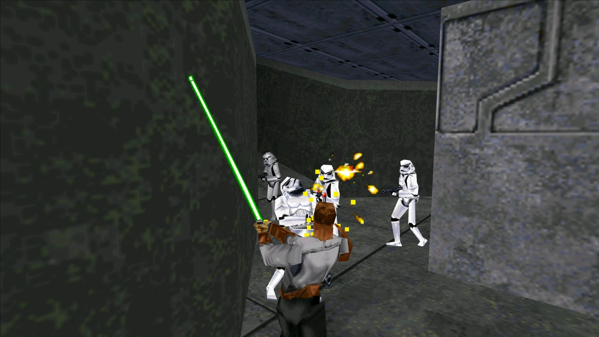 <center>Stormtroopers will come, but your lightsaber will make quick work of their blaster fire and limbs.</center>