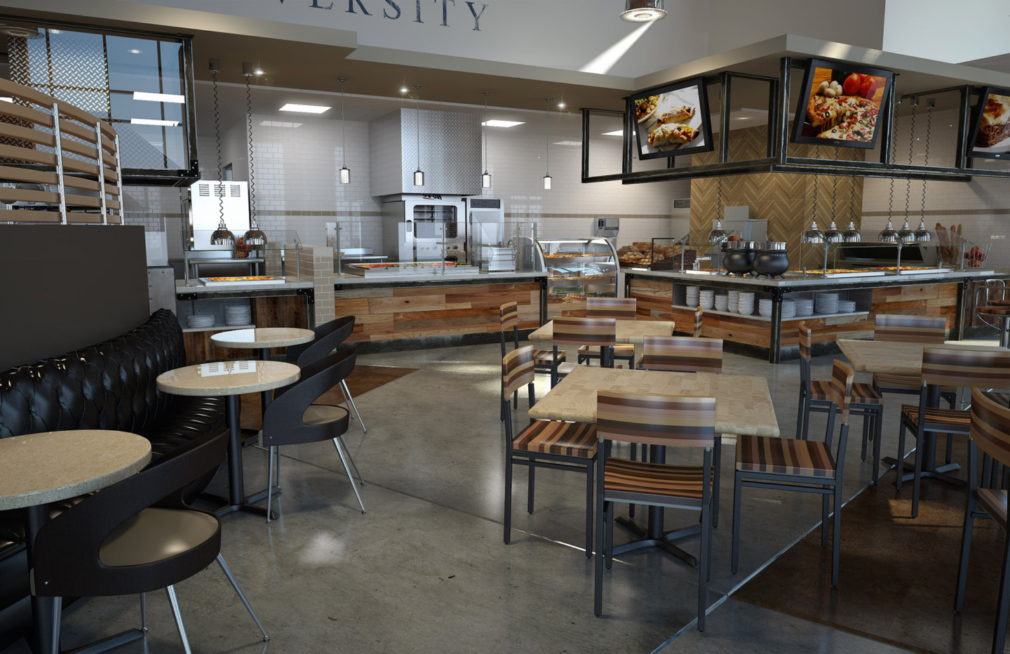 AUBURN WELLNESS KITCHEN ATHLETIC DINING VIEW 02