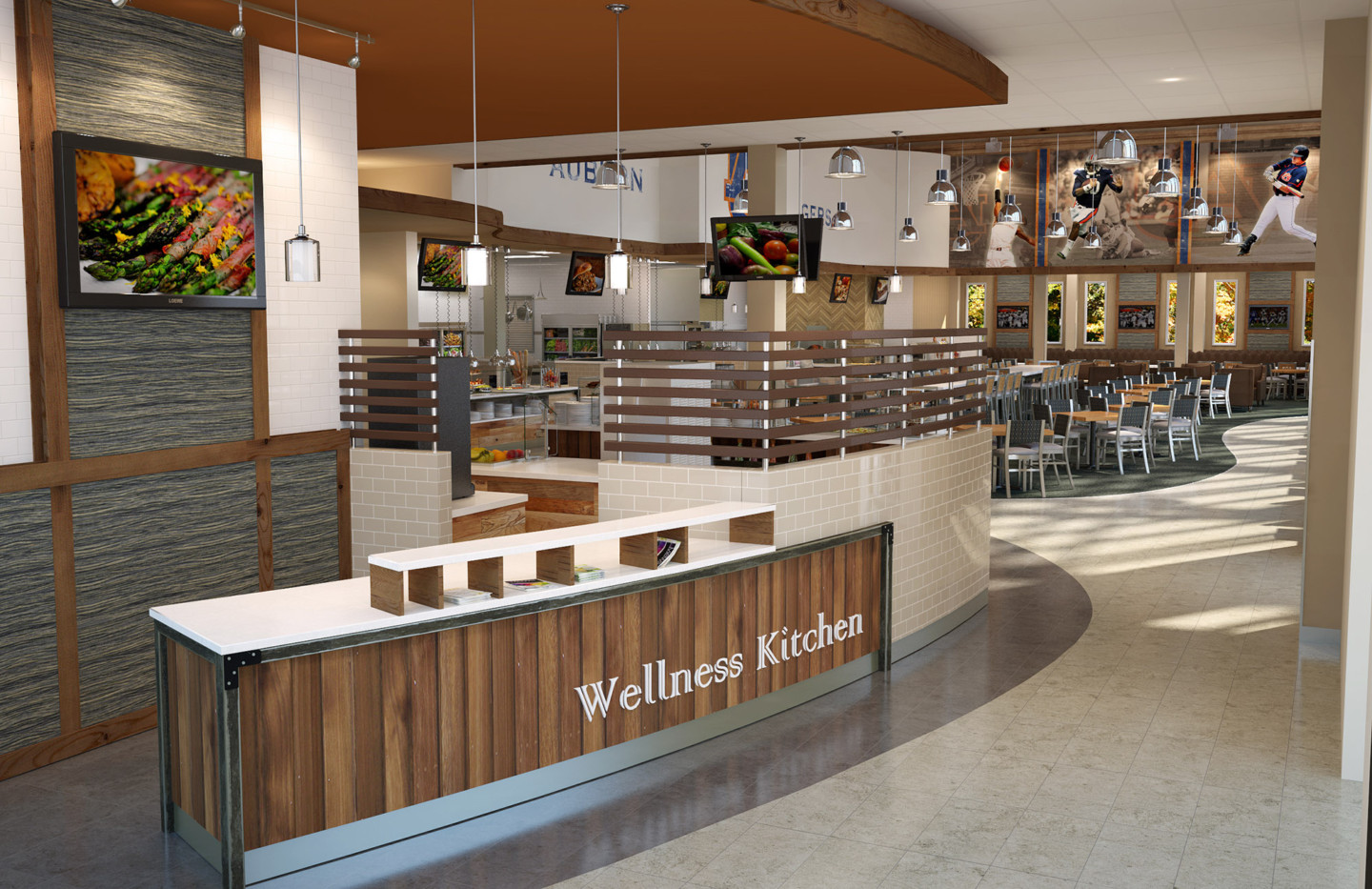 AUBURN WELLNESS KITCHEN ATHLETIC DINING VIEW 04