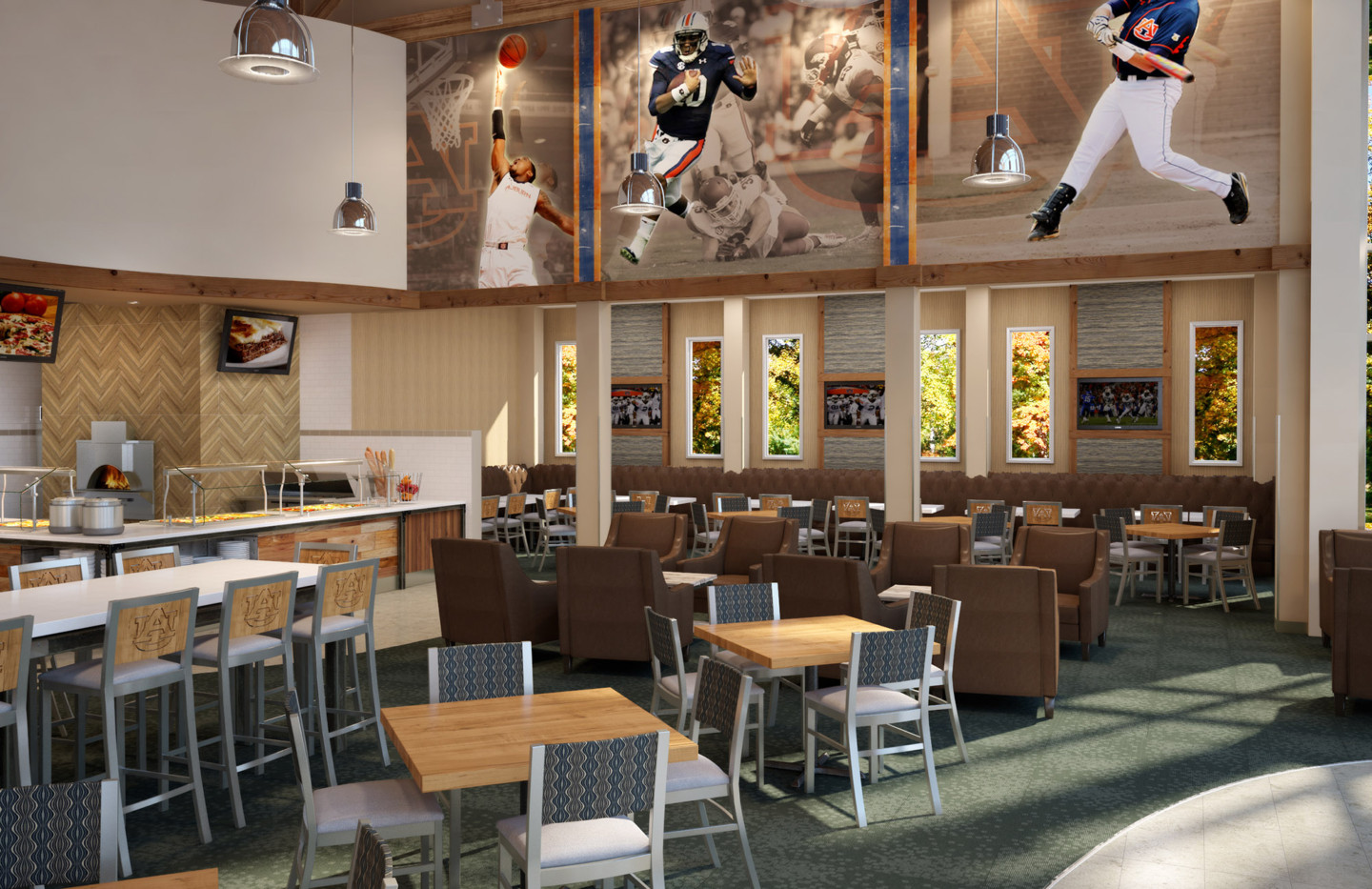 AUBURN WELLNESS KITCHEN ATHLETIC DINING VIEW 03